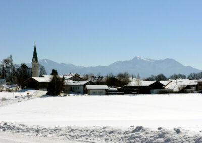 Gollenshausen im Winter| Urbanhof Fam. Reif